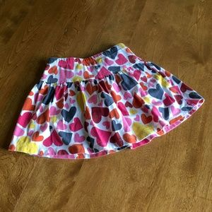 Lands' End heart print skirt 4T